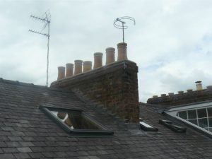 Slate Re Roof - Chimney Flashing | GNR Roofing
