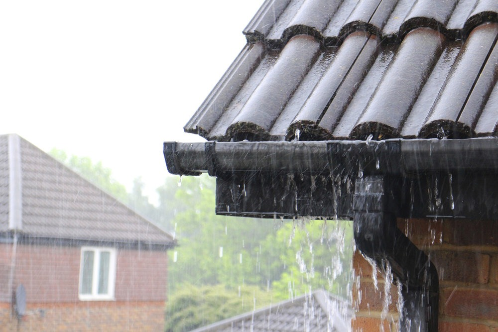 Rainwater Goods Guttering on a House